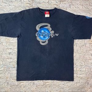 Vintage JNCO Jeans XL Blue Snakes Made USA Shirt